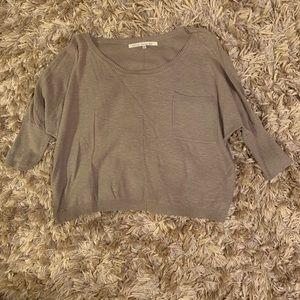 Rachel Roy 100% Cotton Taupe Sweater